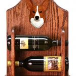Welsh Corgi Pembroke Dog Wood Wine Rack Bottle Holder Figure Red 1