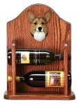 Welsh Corgi Pembroke Dog Wood Wine Rack Bottle Holder Figure Sable