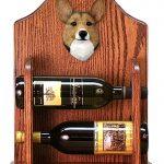 Welsh Corgi Pembroke Dog Wood Wine Rack Bottle Holder Figure Sable 1