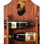 Welsh Terrier Dog Wood Wine Rack Bottle Holder Figure 1