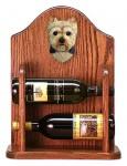 Yorkshire Terrier Dog Wood Wine Rack Bottle Holder Figure Pup