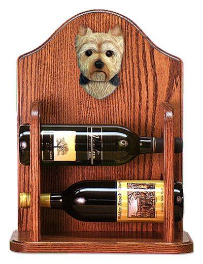 Yorkshire Terrier Dog Wood Wine Rack Bottle Holder Figure Pup 1
