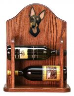 Manchester Terrier Dog Wood Wine Rack Bottle Holder Figure