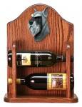 Schnauzer Dog Wood Wine Rack Bottle Holder Figure Salt/Pepper