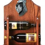Schnauzer Dog Wood Wine Rack Bottle Holder Figure Salt/Pepper 1