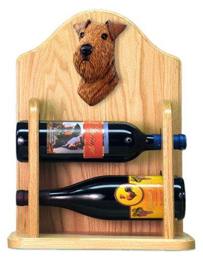 Airedale Dog Wood Wine Rack Bottle Holder Figure 2