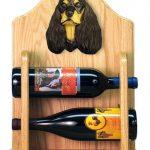 Cocker Spaniel Dog Wood Wine Rack Bottle Holder Figure Blk/Tan 2