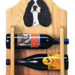 Cocker Spaniel Dog Wood Wine Rack Bottle Holder Figure Blk Parti 2