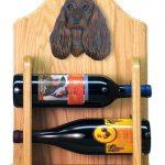 Cocker Spaniel Dog Wood Wine Rack Bottle Holder Figure Brn 2