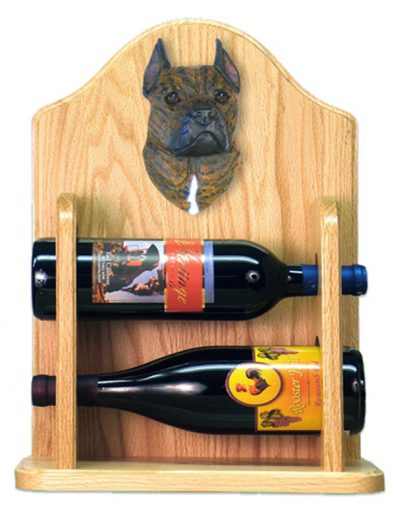 Staffordshire Terr Dog Wood Wine Rack Bottle Holder Figure Brin 2