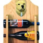 Staffordshire Terr Dog Wood Wine Rack Bottle Holder Figure Fawn 2