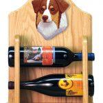 Australian Shepherd Dog Wood Wine Rack Bottle Holder Figure Red Tri 2