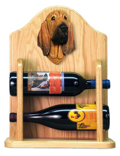 Bloodhound Dog Wood Wine Rack Bottle Holder Figure 2