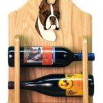 Boxer Dog Wood Wine Rack Bottle Holder Figure Brin 2