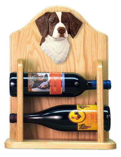 Brittany Dog Wood Wine Rack Bottle Holder Figure Liver 2
