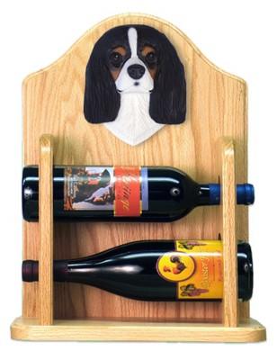 Cavalier Charles Dog Wood Wine Rack Bottle Holder Figure Tri 2