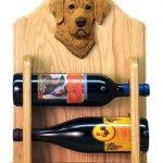 Chesapeake Bay Retriever Dog Wood Wine Rack Bottle Holder Figure 2
