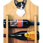Chihuahua Dog Wood Wine Rack Bottle Holder Figure Tri 2
