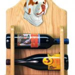 Clumber Spaniel Dog Wood Wine Rack Bottle Holder Figure Orange 2