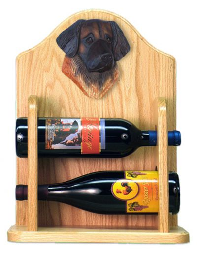 Leonberger Dog Wood Wine Rack Bottle Holder Figure 2