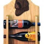 Newfoundland Dog Wood Wine Rack Bottle Holder Figure Blk 2