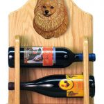 Pomeranian Dog Wood Wine Rack Bottle Holder Figure Orange 2
