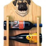 Pug Dog Wood Wine Rack Bottle Holder Figure Fawn 2