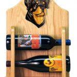 Rottweiler Dog Wood Wine Rack Bottle Holder Figure 2