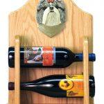 Shih Tzu Dog Wood Wine Rack Bottle Holder Figure SilverWht 2