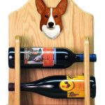 Welsh Corgi Pembroke Dog Wood Wine Rack Bottle Holder Figure Red 2