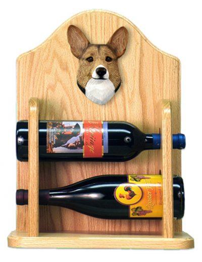 Welsh Corgi Pembroke Dog Wood Wine Rack Bottle Holder Figure Sable 2