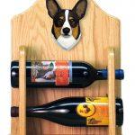 Welsh Corgi Pembroke Dog Wood Wine Rack Bottle Holder Figure Tri 2