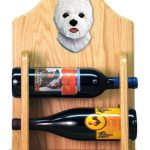 West Highland Terrier Dog Wood Wine Rack Bottle Holder Figure 2