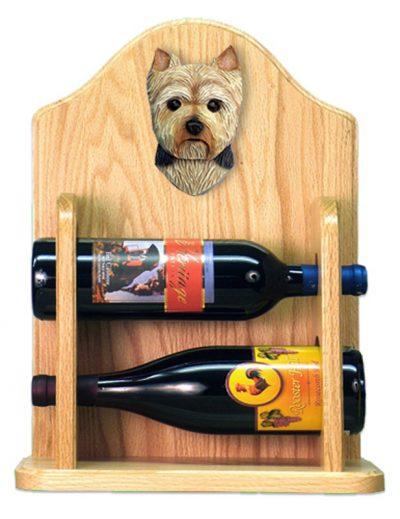 Yorkshire Terrier Dog Wood Wine Rack Bottle Holder Figure Pup 2