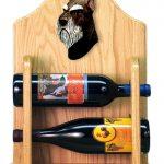 Schnauzer Dog Wood Wine Rack Bottle Holder Figure Blk/Silver 2