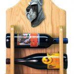 Schnauzer Dog Wood Wine Rack Bottle Holder Figure Salt/Pepper 2