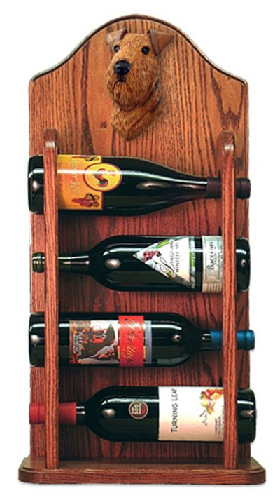 Airedale Dog Wood Wine Rack Bottle Holder Figure 3