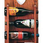 Staffordshire Terr Dog Wood Wine Rack Bottle Holder Figure Brin/Wht 3