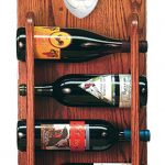 Staffordshire Terr Dog Wood Wine Rack Bottle Holder Figure Red/Wht 3