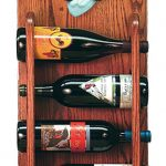 Basset Hound Dog Wood Wine Rack Bottle Holder Figure Red/Wht 3