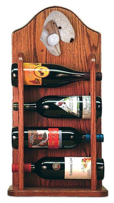 Bedlington Terrier Dog Wood Wine Rack Bottle Holder Figure Liver 3