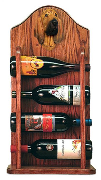 Bloodhound Dog Wood Wine Rack Bottle Holder Figure 3