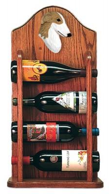 Borzoi Dog Wood Wine Rack Bottle Holder Figure Bi 3