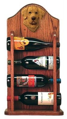 Chesapeake Bay Retriever Dog Wood Wine Rack Bottle Holder Figure 3