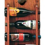 Chihuahua Dog Wood Wine Rack Bottle Holder Figure Blk 3