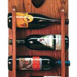 Dachshund Dog Wood Wine Rack Bottle Holder Figure Blk/Tan 3