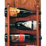 Dachshund Dog Wood Wine Rack Bottle Holder Figure Red 3