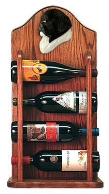 Newfoundland Dog Wood Wine Rack Bottle Holder Figure Landseer 3