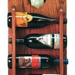 Papillon Dog Wood Wine Rack Bottle Holder Figure Brn/Wht 3
