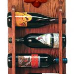 Poodle Dog Wood Wine Rack Bottle Holder Figure Red 3